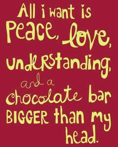 Chocolate Quote! (Image from: iheartinspiration.com)